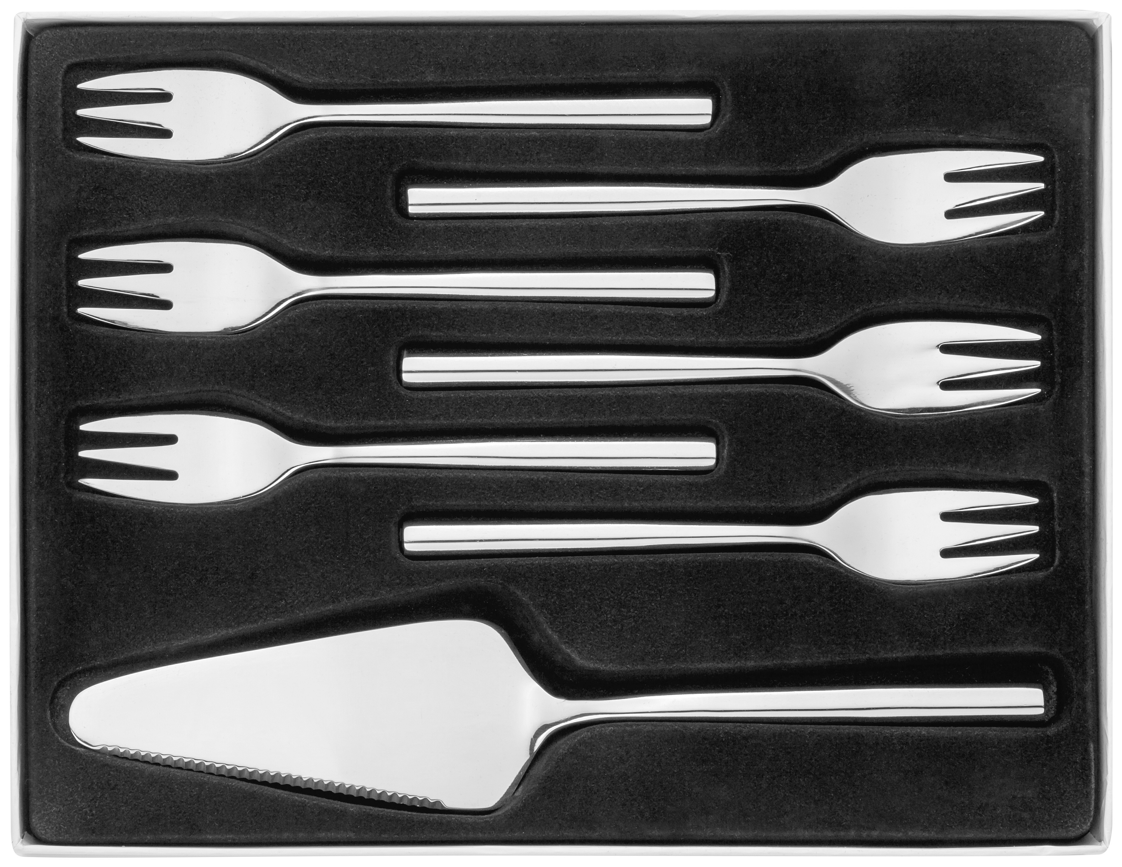 Stellar Cutlery Rochester 7 Piece Cake Cultery Setpc Pastry Set BL31