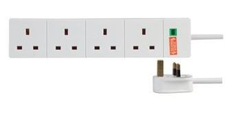 Pro Elec 4 Gang Surge Protected Extension Lead