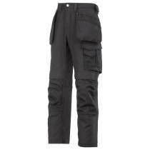 Snickers 3214 Craftsmen Holster Pocket Trousers, Canvas+, Black