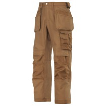 Snickers 3214 Craftsmen Holster Pocket Trousers, Canvas+, Brown