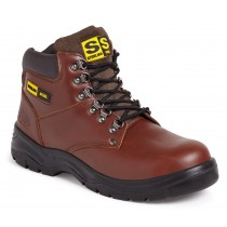 Sterling Derby Leather Safety Boot SS807 Brown