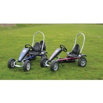 Grant Go-Kart with adjustable seat. Available in Red, Blue, Pink, Black/Silver