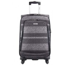 "Highbury Unique Grey Stripe Ultra Light Weight Luggage (24"")"