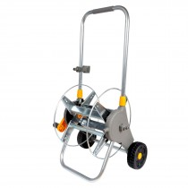 Hozelock 60m Metal Cart and 50m Pro Hose with Promo Gun 2436