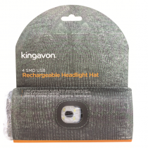 Kingavon Beanie Hat With Rechargeable Head Light