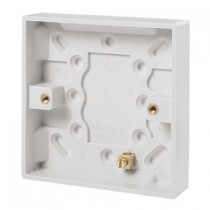 Click UK 1 Gang 16mm Deep Pattress Box With Earth Terminal (PRW080)