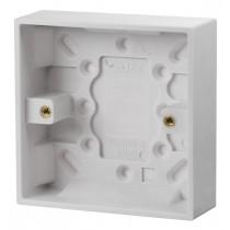 Click UK 1 Gang 25mm Deep Pattress Box (PRW081)