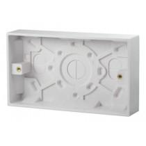 Click UK 2 Gang 25mm Deep Pattress Box (PRW082)