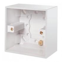 Click UK1 Gang 47mm Deep Pattress Box With Earth Terminal  (PRW085)