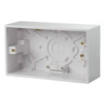 Click UK 2 Gang 47mm Deep Pattress Box Fitted With Cable Restraint & Earth Terminal  (PRW086)