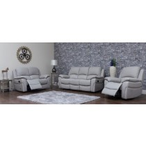 Sofa House Serena Pearl Grey Half Leather