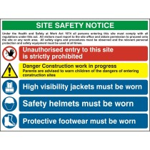 Composite Site Safety Notice Fmx (800 x 600mm) Sign