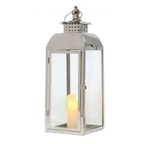 Tara Tiffany Medium Chrome Lantern