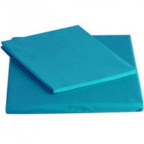 Percale Double Fitted Sheet -Teal