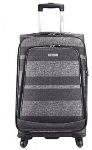 "Highbury Unique Grey Stripe Ultra Light Weight Luggage (24"")"