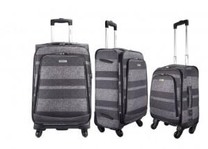"Highbury Unique Grey Stripe Ultra Light Weight Luggage (28"")"